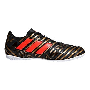 adidas Men s Nemeziz Messi Tango 17.4 Indoor Soccer Shoes - Black Red Gold b83c0c8104
