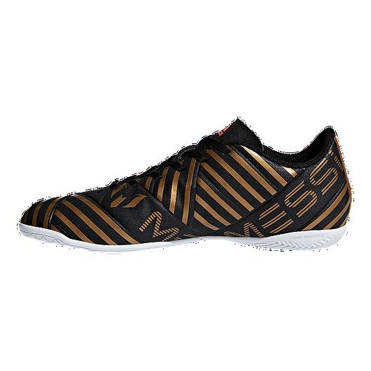 adidas Men's Nemeziz Messi Tango 17.4 Indoor Soccer Shoes BlackRedGold