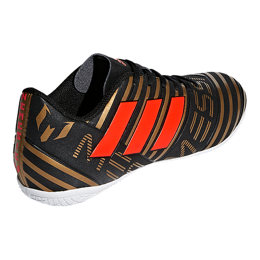 6ba178b030e adidas Men s Nemeziz Messi Tango 17.4 Indoor Soccer Shoes - Black Red Gold.  (3). View Description