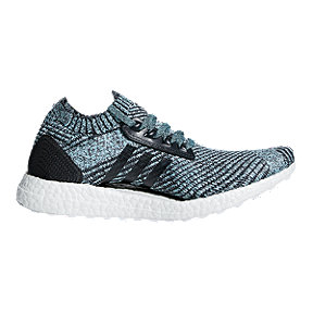 adidas Women's Ultra Boost X Parley Running Shoes - Grey/Blue