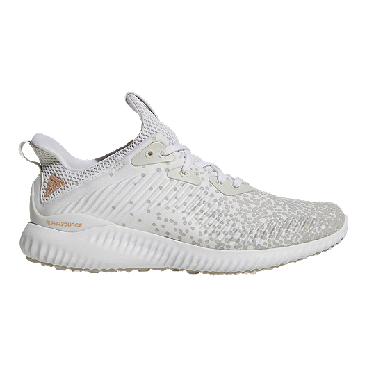 c32e66b4fe049 adidas Women s AlphaBounce Aramis Fade Running Shoes - White Grey ...