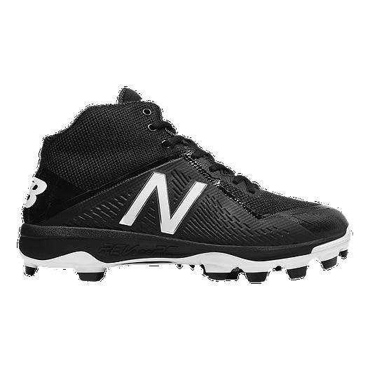 19a21a50d9b New Balance Men s 4040v4 TPU Mid-Cut Baseball Cleats - Black White ...