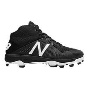 New Balance Men s 4040v4 TPU Mid-Cut Baseball Cleats - Black White 8eaaf602205