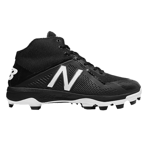 b86c395066f1 New Balance Men s 4040v4 TPU Mid-Cut Baseball Cleats - Black White. (1).  View Description