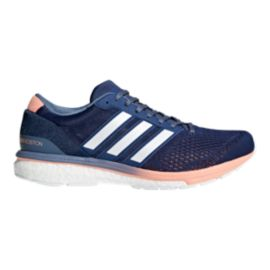 adidas Women's Adizero Boston 6 Running Shoes - Navy/Grey/White