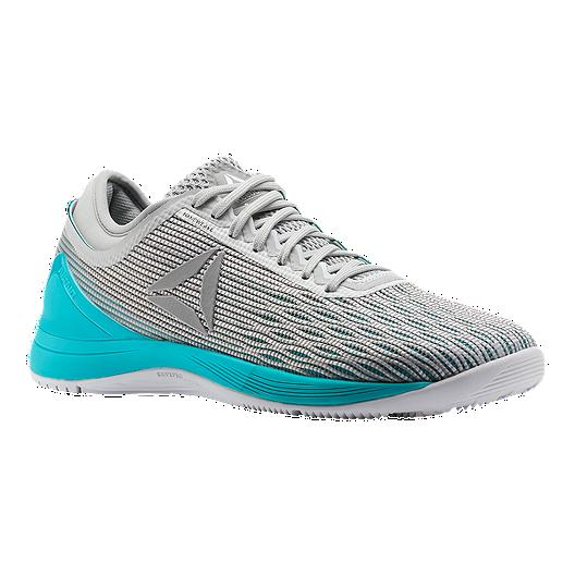 8069576fd6 Reebok Women's CrossFit Nano 8 Training Shoes - Grey/White/Teal