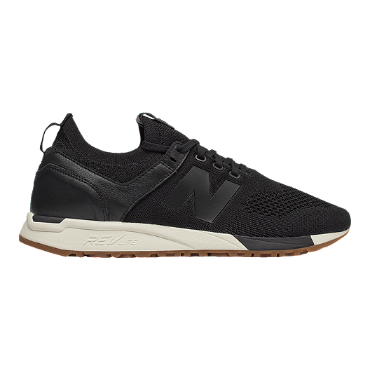 new product 8b3ef 6bbc6 New Balance Men s 247 Suede Shoes - Black White   Sport Chek