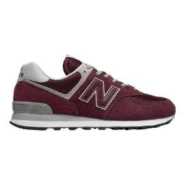 New Balance Men's 574 V2 Shoes - Burgundy