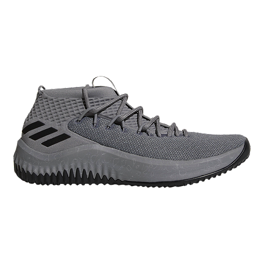 new styles f8a0f 23b10 adidas Mens Dame 4 Basketball Shoes - BlackGrey  Sport Chek