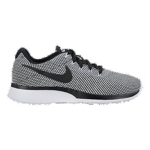 Nike Women's Tanjun Racer Shoes - Black/White