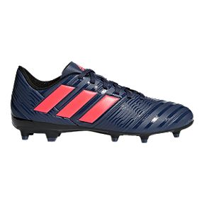 adidas Women s Nemeziz 18.4 FG Outdoor Soccer Cleats - Blue Red 0d3e5b10dade4