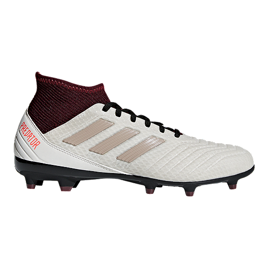 info for 3ac8b 12006 adidas Women's Predator 18.3 FG Outdoor Soccer Cleats - Grey/Maroon