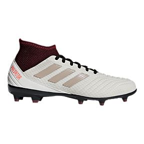 adidas Women s Predator 18.3 FG Outdoor Soccer Cleats - Grey Maroon 3d475b399