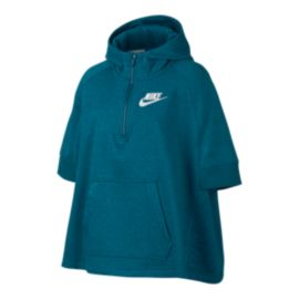 Nike Sportswear Girls' Top Club Pullover Poncho Top