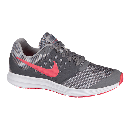 4f0998235bf0 Nike Girls  Downshifter 7 Grade School Shoes - Grey Pink