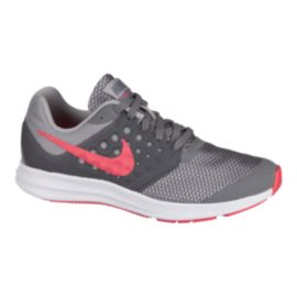 Nike Girls' Downshifter 7 Grade School Shoes - Grey/Pink