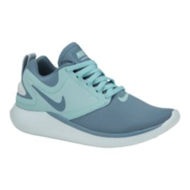 Nike Girls' LunarSolo Grade School Shoes - Aqua/Glacier