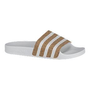 pretty nice fa5f7 1ee5d adidas Originals Womens Adilette Sandals - WhiteCork