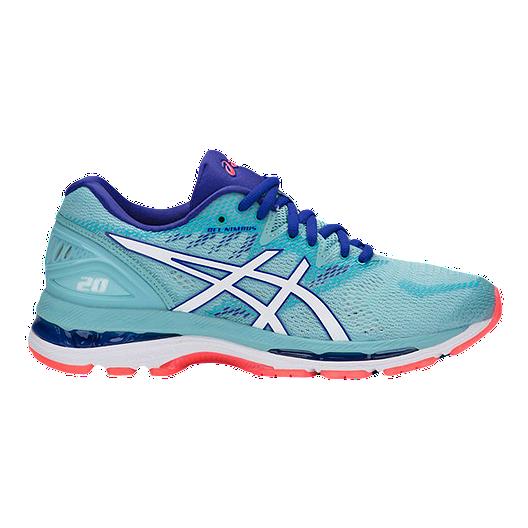 10551486e0e88 ASICS Women s Gel Nimbus 20 Running Shoes - Blue White