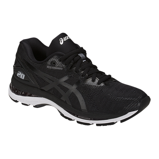 info for d910c a9956 ASICS Women's Gel Nimbus 20 Running Shoes - Black/White/Carbon
