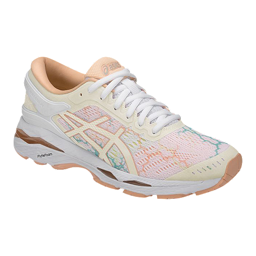 0ab8b586855 ASICS Women s Gel Kayano 24 LS Running Shoes - White Ice Peach ...