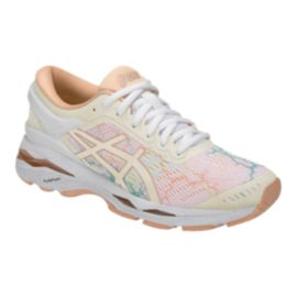 ASICS Women's Gel Kayano 24 LS Running Shoes - White/Ice/Peach