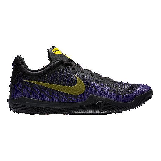 ade4c0255af8 Nike Men s Mamba Rage Basketball Shoes - Black Yellow Purple