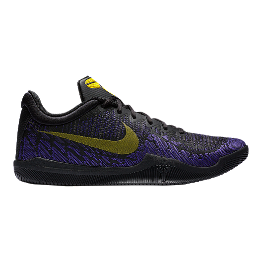232b2148764a Nike Men s Mamba Rage Basketball Shoes - Black Yellow Purple