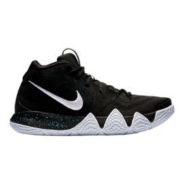 6aa4bc91809a Nike Men s Kyrie 4 Basketball Shoes - Black White Blue