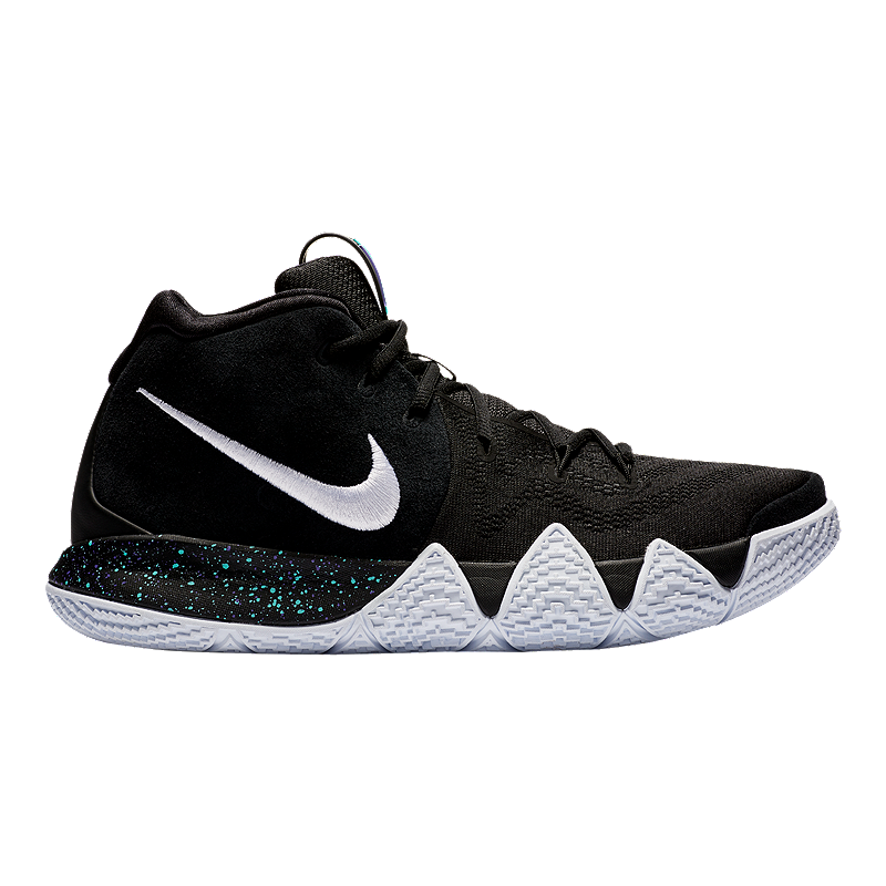 938c0a73f245 Nike Men s Kyrie 4 Basketball Shoes - Black White Blue