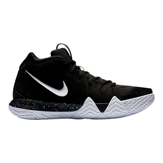 39059d7be27 Nike Men s Kyrie 4 Basketball Shoes - Black White Blue
