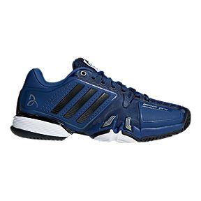 online store 44017 de09c adidas Mens Novak Pro Tennis Shoes - BlueBlackWhite