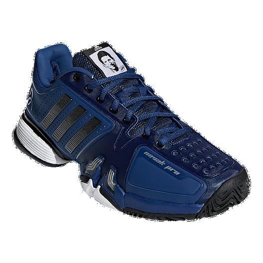 a7fcd1bfd4b adidas Men s Novak Pro Tennis Shoes - Blue Black White