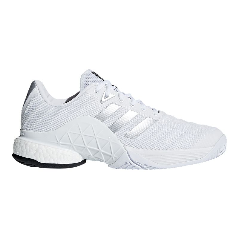 detailed look 2d0c6 590ae adidas Men s Barricade 2018 Boost Tennis Shoes - White (191028715066) photo