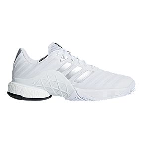 best service 1e101 f2a2d adidas Mens Barricade 2018 Boost Tennis Shoes - White