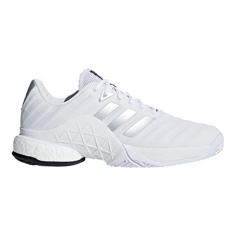 newest 72f78 643b7 adidas Mens Barricade 2018 Boost Tennis Shoes - White  Sport