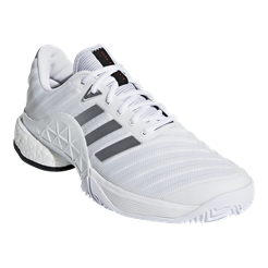 adidas Men s Barricade 2018 Boost Tennis Shoes - White  acd9821610e10