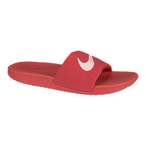 Nike Girls' Kawa Slide Sandals - Red/Pink