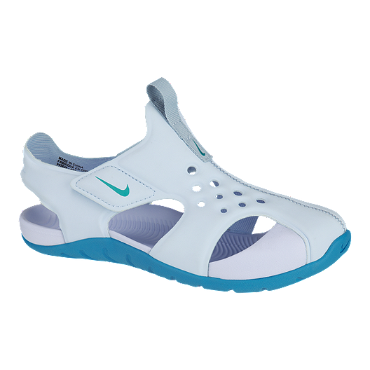 a0ef5c981 Nike Girls  Sunray Protect 2 Preschool Sandals - Light Blue Blue ...