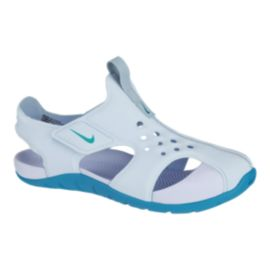 Nike Girls' Sunray Protect 2 Preschool Sandals - Light Blue/Blue