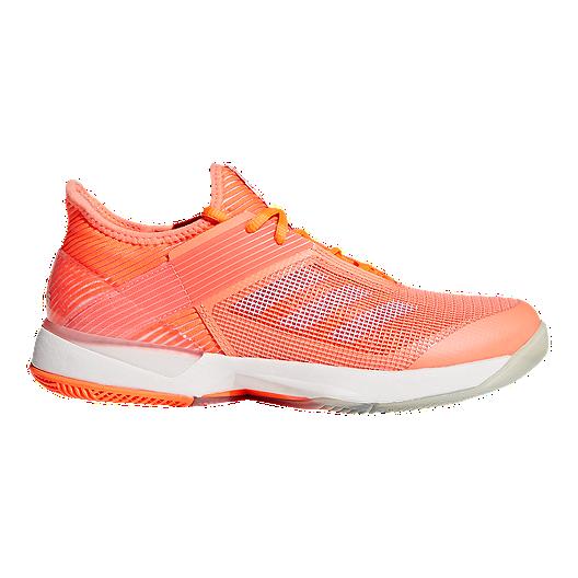 pretty nice e59d3 adc6d adidas Women s Adizero Ubersonic 3 Tennis Shoes - Coral Blue   Sport Chek