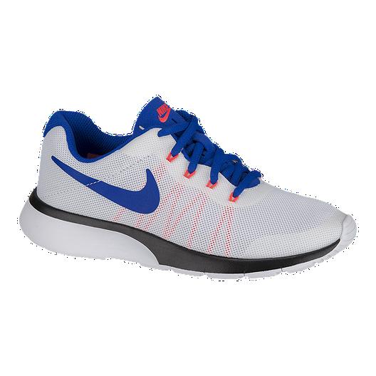 12d89f2f83e71 Nike Kids' Tanjun Racer Grade School Shoes - White/Blue | Sport Chek