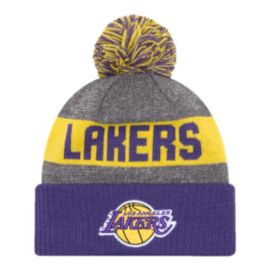 Los Angeles Lakers New Era 16 Sport Pom Knit