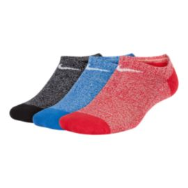 Nike Boys' Performance Cushion No Show Socks - 3 Pack