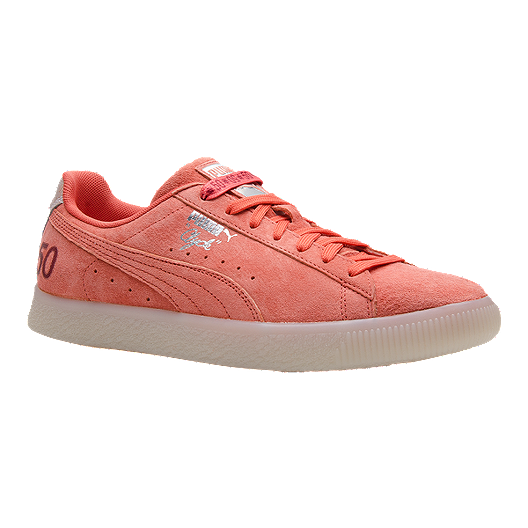 75ad66914fd PUMA Men s Clyde Canada 50 (Money) Shoes - Coral Silver