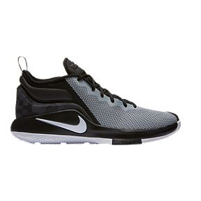 Nike Men's LeBron Witness II Basketball Shoes - Black/White