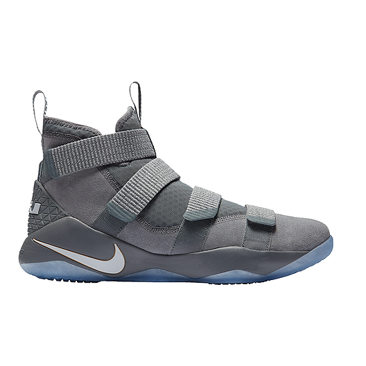 6f74ba8aa12 Nike Men s LeBron Soldier XI Basketball Shoes - Grey Platinum ...