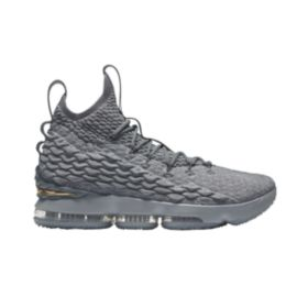 Nike Men's LeBron 15 Basketball Shoes - Grey/Gold