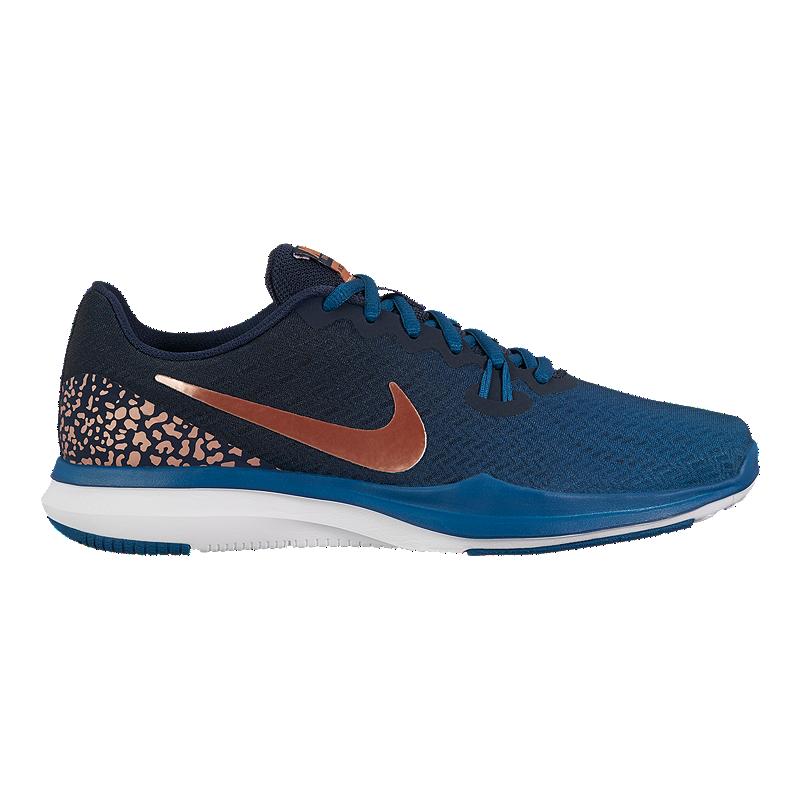 low priced 77faf 0ff9d Nike Women s In-Season 7 Print Training Shoes - Blue Orange   Sport Chek