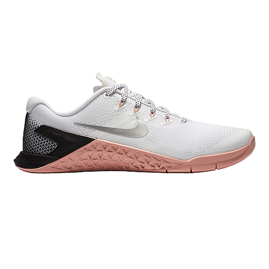 233056c55358 Nike Women s Metcon 4 Training Shoes - White Silver Pink